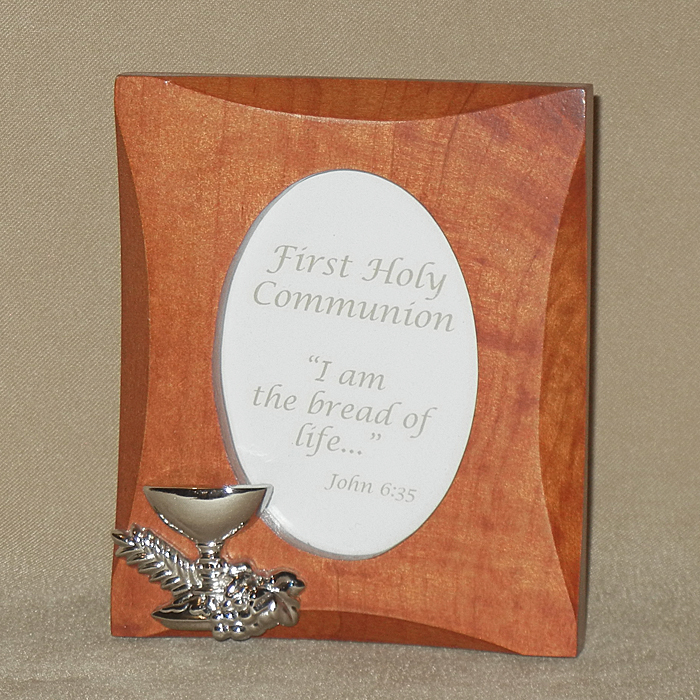 First Communion Wood Photo Frame