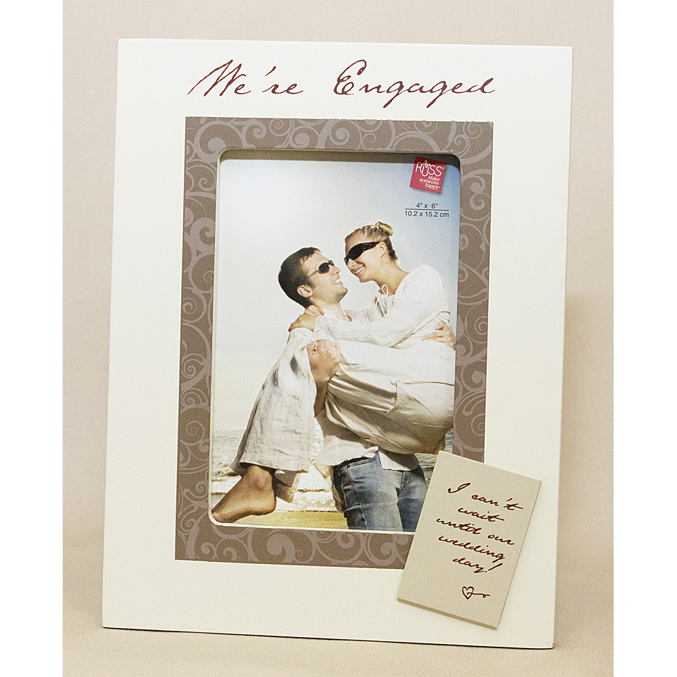 We Are Engaged Photo Frame