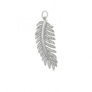 "Feather Sterling Silver Pendant with 18"" silver chain"