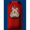 Teddy Bear Glow In The Dark Cell Phone Holder