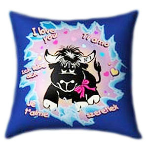 Love Bull Glow In The Dark Pillow