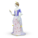 Lady with Mirror Porcelain Figurine by Hollohaza