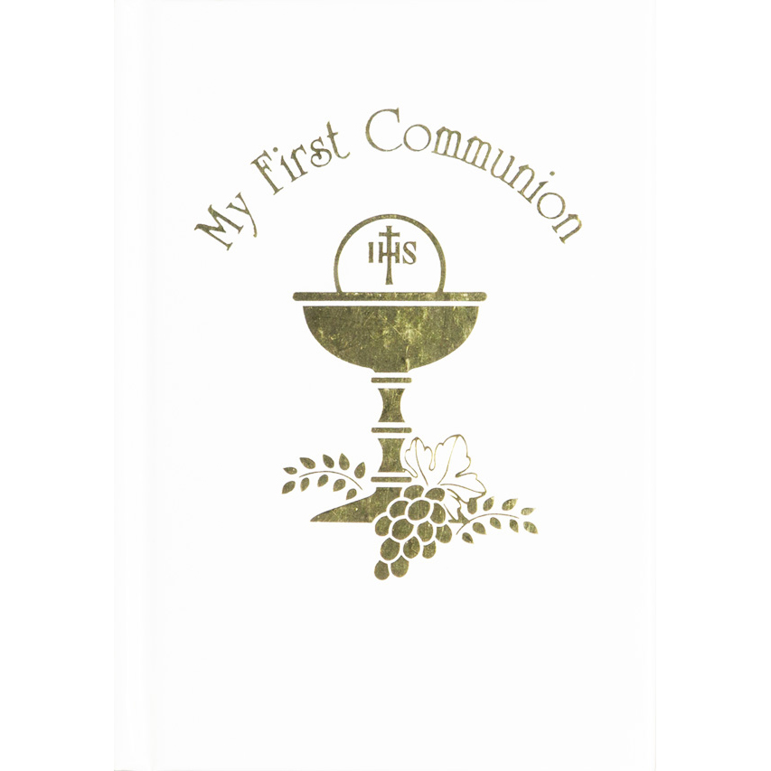 my first holy communion My mass & holy communion book - whitetheir first holy communion, this white leatherette edition of my mass and holy communion book features an attractive mother-of-pearl-and-chalice accent perfect for celebrating this most joyous day share a meaningful gift that promotes a life of prayer.
