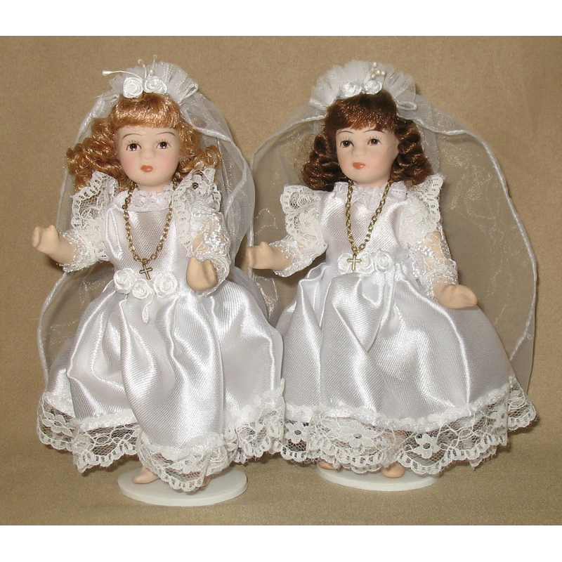 Dolls with Stand Porcelain First Communion