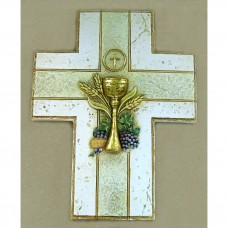 Golden Chalice Wall Cross First Communion