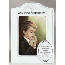 Boy Porcelain Frame First Communion