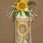 Door Stop with Sunflower Design The Country Shop