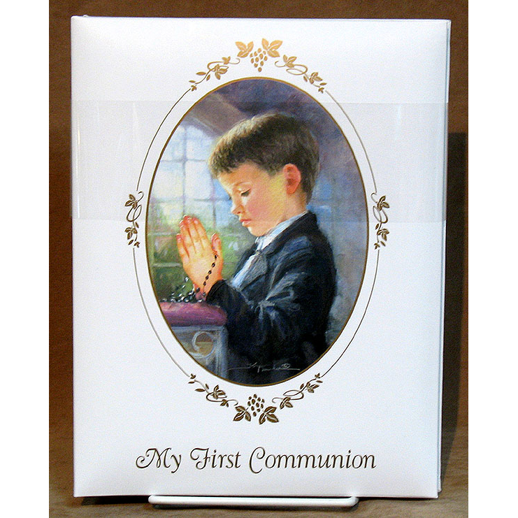 Praying Boy Photo Album First Communion