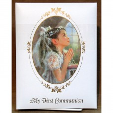 Praying Girl Photo Album First Communion