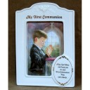 Praying Boy Porcelain Frame First Communion