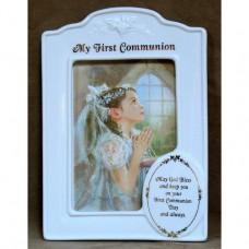 Praying Girl Porcelain Frame First Communion