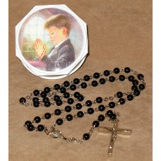 Praying Boy Rosary In Keepsake Box First Communion