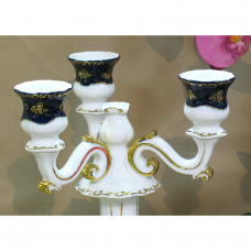 Pompadour I Candle Holder Zsolnay Fine Porcelain