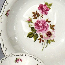 Red Rose Compote Zsolnay Fine Porcelain