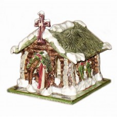 Log Cabin Church Whimsical Night Light