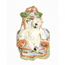 Polar Bear Ornament Candle Holder and Figurine Blue Sky