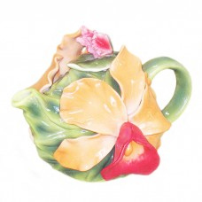 Orchid Paradise Decorative Teapot