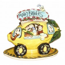 Monkey Brothers Lemonade Stand Candle House Blue Sky
