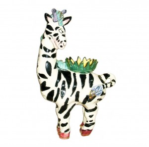 Zebra Collectible T- light Holder