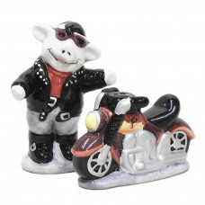 Pig Biker Decorative Salt and Pepper Shaker