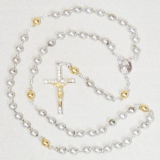 2 Tone Silver and Gold Rosary