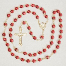 Gen 7mm Ruby Rosary