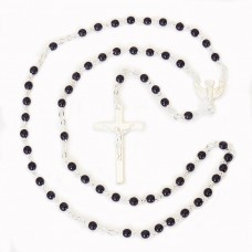 4mm Black Rosary Confirmation