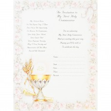Girls First Communion Invitation Cards
