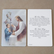 Boy Prayer Card First Communion