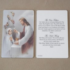 Girl Prayer Card First Communion