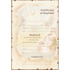 Certificate for Unisex Baptism