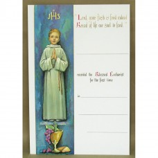 Certificate for Boy First Holy Communion
