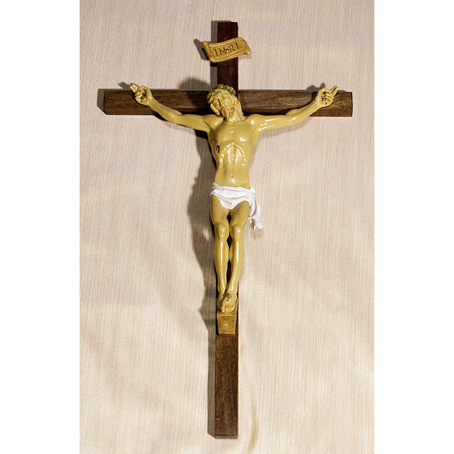 Vintage Religious Crucifix With Jesus Christ Figure Wall Cross