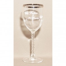 Father Of The Bride Wedding Wine Glass