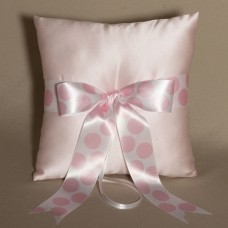Tickled Pink Wedding Ring Bearer Pillow