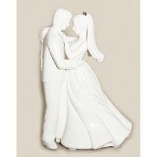 Dancing Couple Platinum Figurine Cake Top