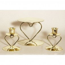 Heart Gold Candle Stand Wedding