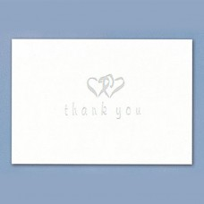 Thank You White Set Notecards Wedding