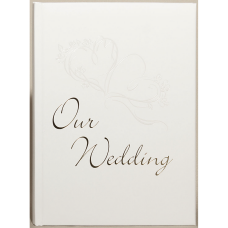 Our Wedding White Double Heart Wedding Album