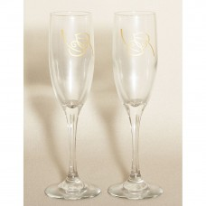 Nature Ivory Wedding Toasting Flutes