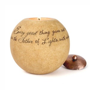 Father of Lights Candle Holder