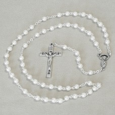 White Pearls Rosary Keepsake First Communion