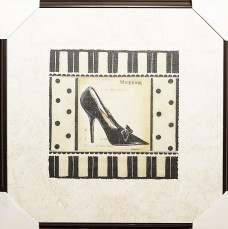 Shopping - Stiletto Shoe Framed Art