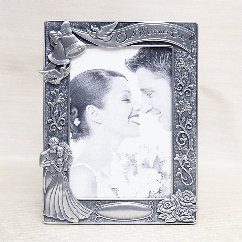Our Wedding Day Pewter Photo Frame