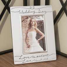 Wedding Day Silver Photo Frame