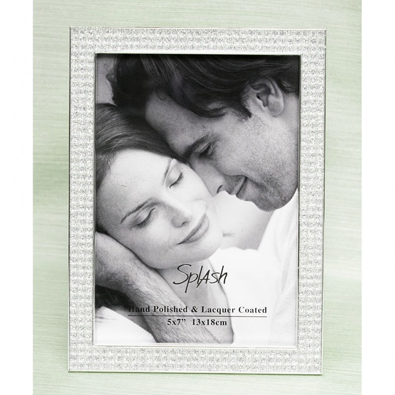 Pewter With Crystals Photo Frame