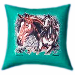 All The Beautiful Horses Glow In The Dark Pillow