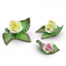 Hand painted Roses Fine Porcelain by Hollohaza
