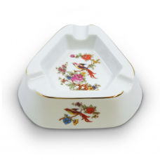 Paradise Bird Porcelain Ashtray by Hollohaza