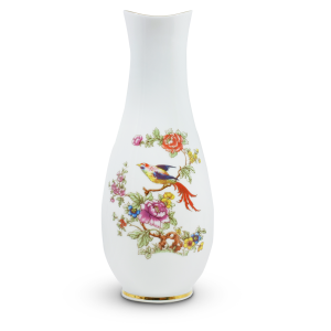 Paradise Bird Vase Porcelain by Hollohaza